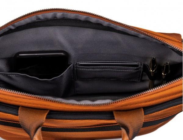 Large waist bag in orange detail