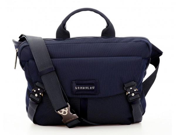 Large waist bag in blue front