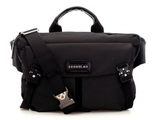Large waist bag in black front
