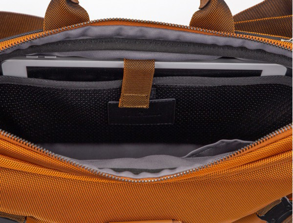 Large waist bag in black with tablet