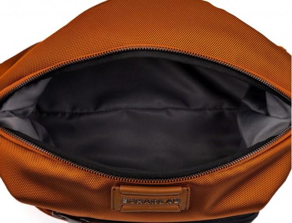 Toilet bag in orange inside