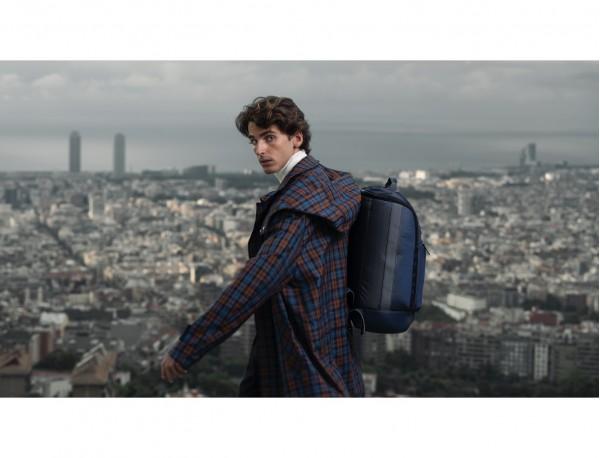 travel backpack tube in orange lifestyle