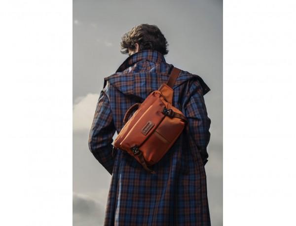 Large waist bag in orange lifstyle