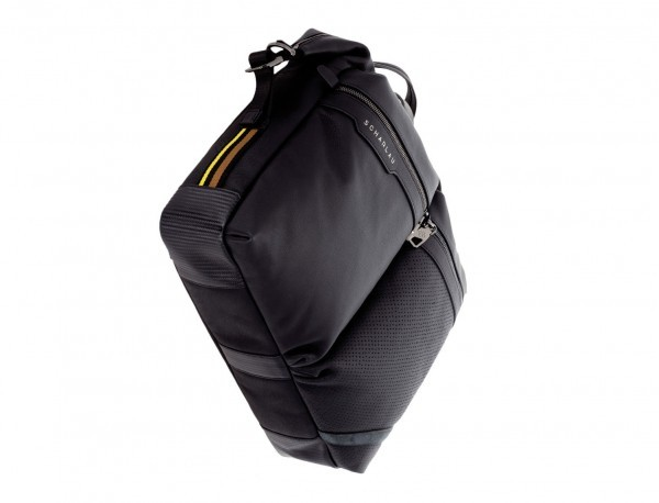 leather men briefcase in black  base