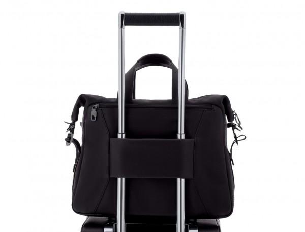 leather men briefcase in black trolley