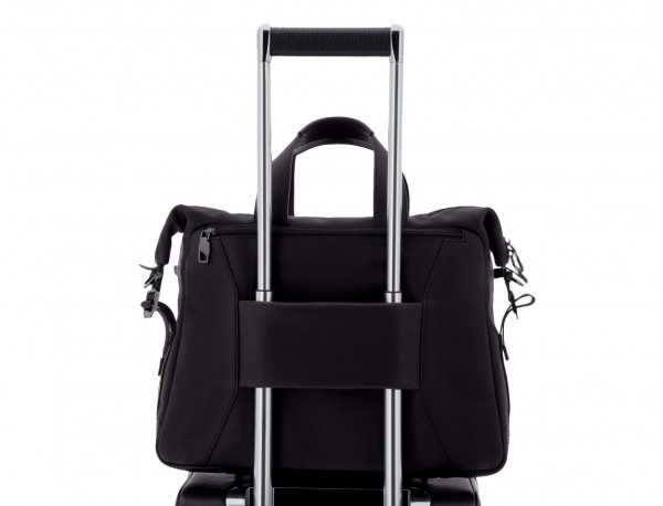 maletin de cuero de hombre negro trolley