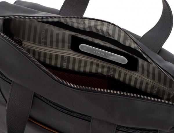 maletin de cuero de hombre negro personalizado