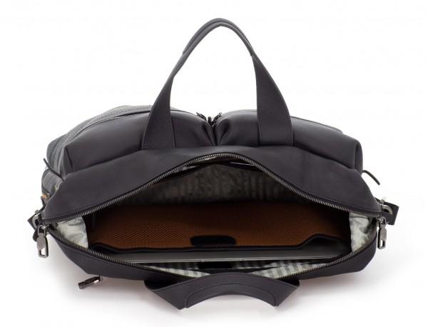 maletin de cuero de hombre negro portátil