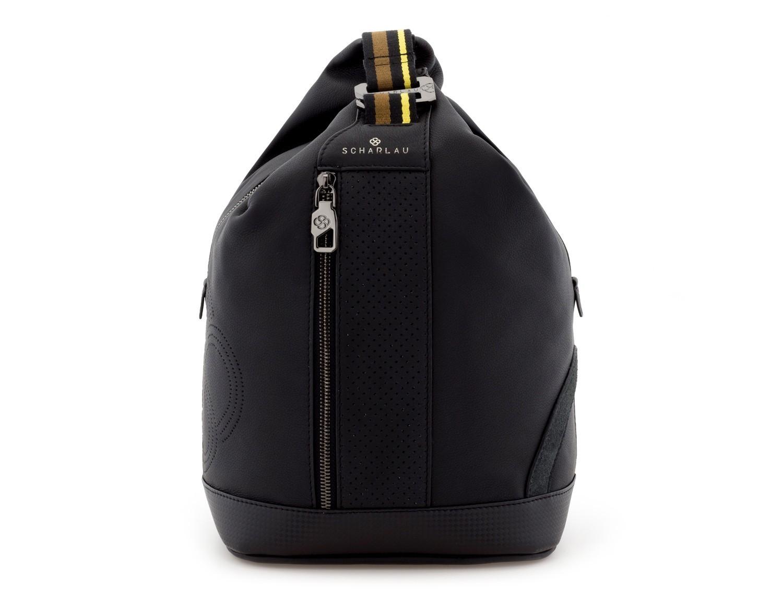 leather crossbody black front