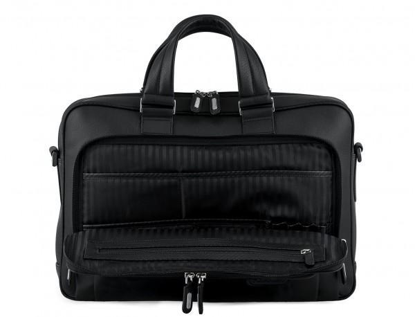 maletin ejecutivo de cuero en color todo negro interior