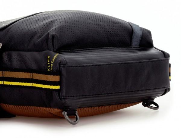 bolso convertible en mochila de cuero para portátil negro base