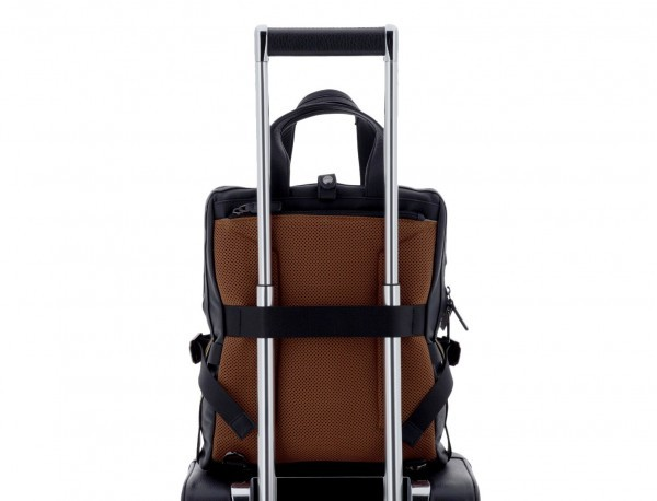 leather bag and backpack for laptop black trolley