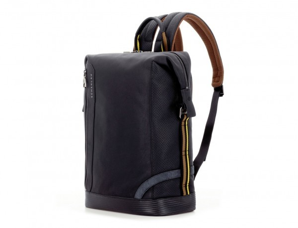 leather black backpack lado