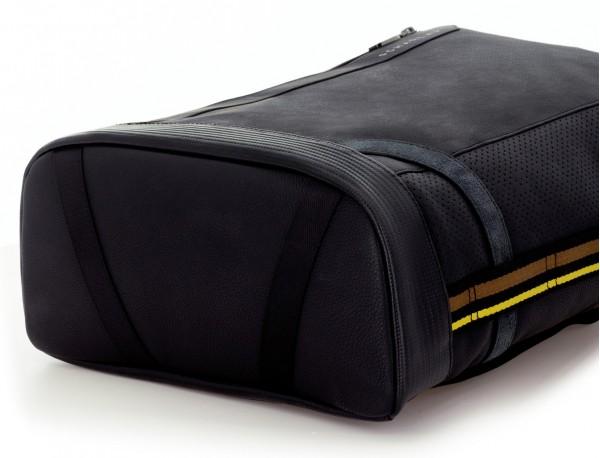 leather black backpack base