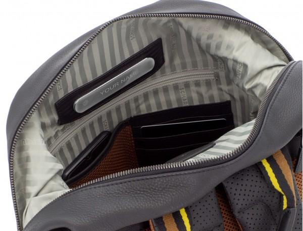 mochila de cuero negra personalizada
