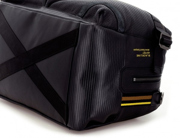 leather travel weekender bag black base