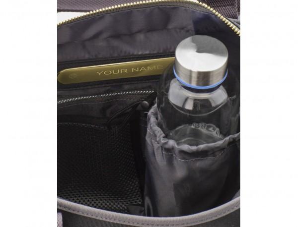 bolso de mujer reciclado para ordenador azul botella de agua