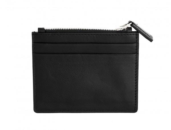 leather card holder black back