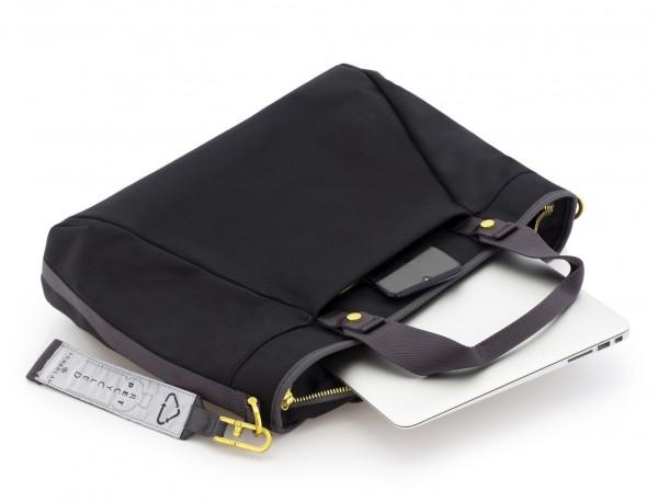 Borsa per laptop donna riciclato black interior