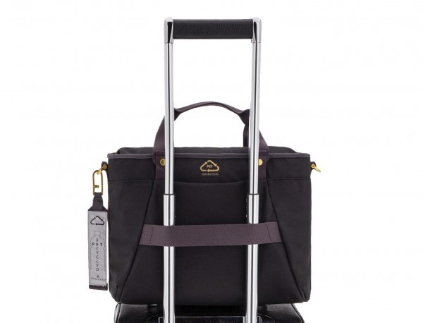 recycled  laptop woman bag in black trolley