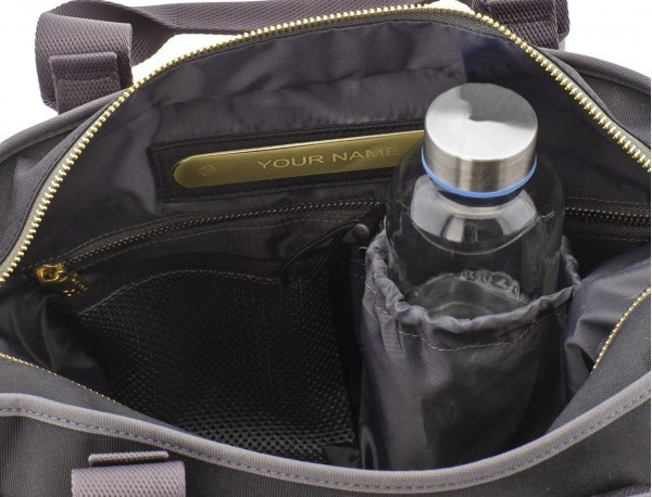 recycled  laptop woman bag in black bottle