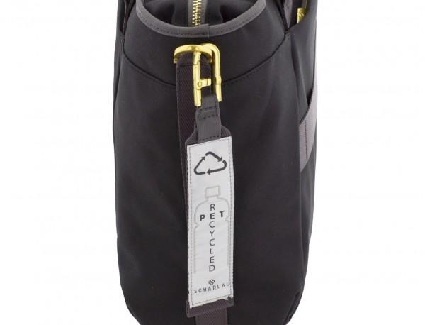 bolso de mujer reciclado para ordenador negro detalle