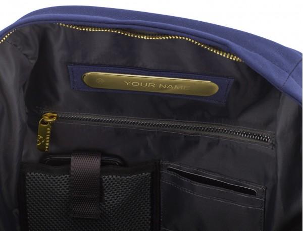mochila para mujer azul personalizada