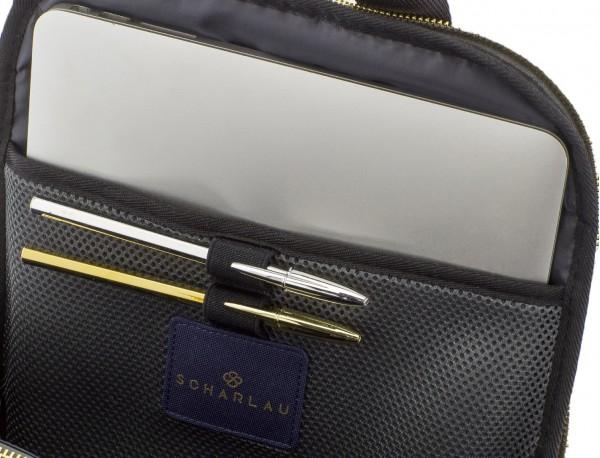 zaino per donna in blu laptop