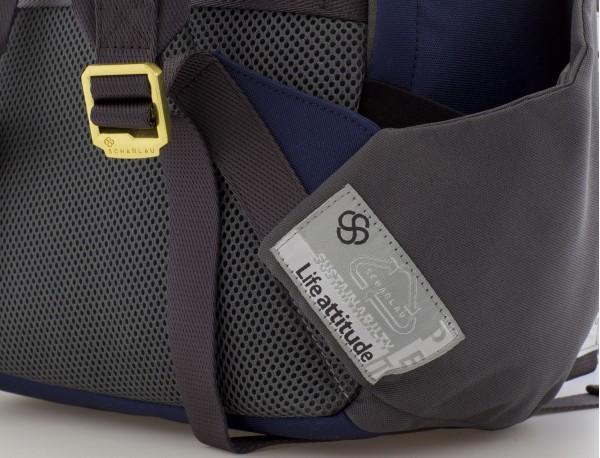 mochila para mujer azul asas