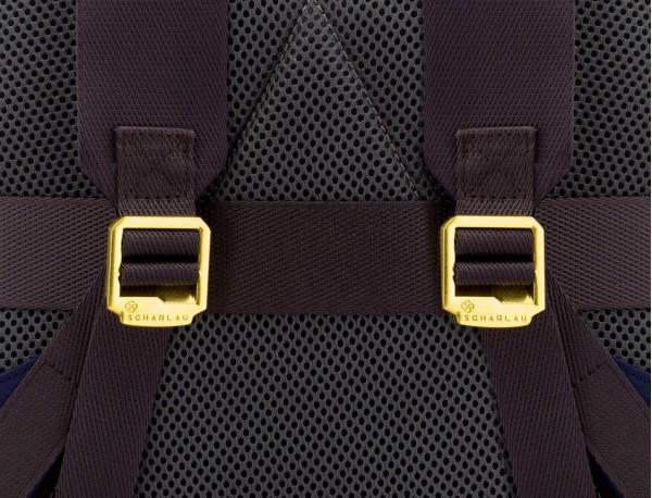 mochila para mujer azul espalda