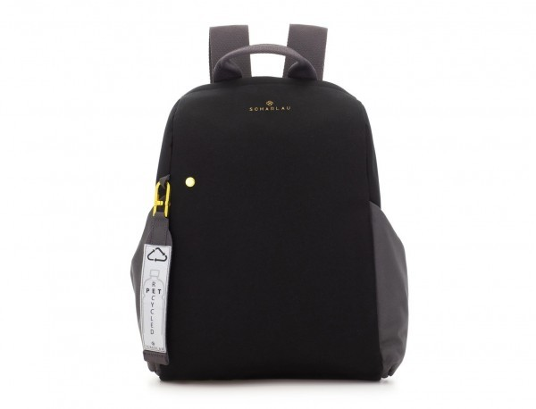 recycled woman's backpack in black front