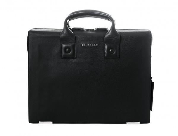 leather briefbag black portada