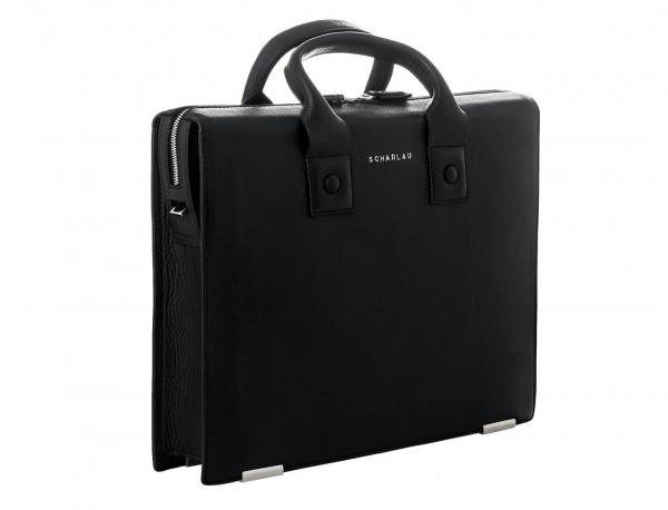 maletin negro de cuero lateral