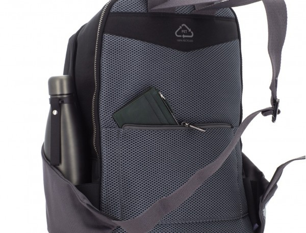 recycled backpack in black  back