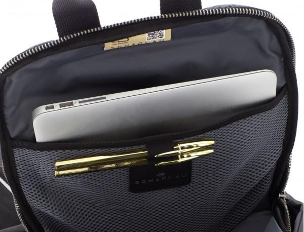 Zaino in tessuto riciclato nero laptop