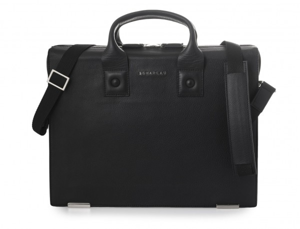 maletin negro para hombre de cuero bandolera
