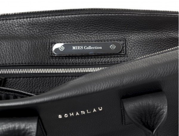 leather briefcase for men lateral personalized