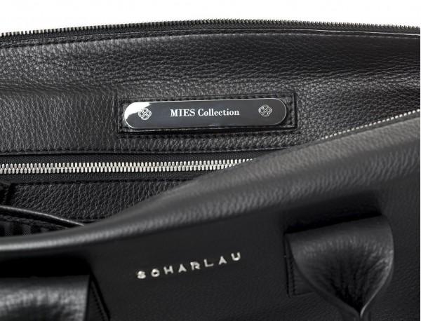 maletin negro para hombre de cuero personalizado