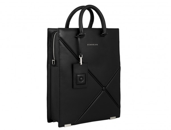 leather business bag woman black side