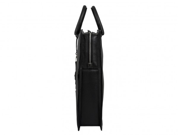 leather business bag woman black side detail
