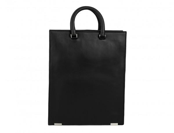 borsa da lavoro in pelle donna nera  back
