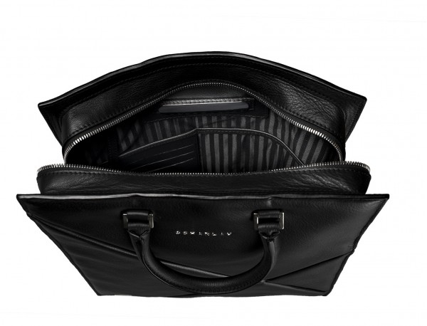 leather business bag woman black plate