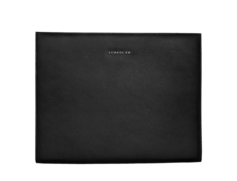 portfolio leather black front