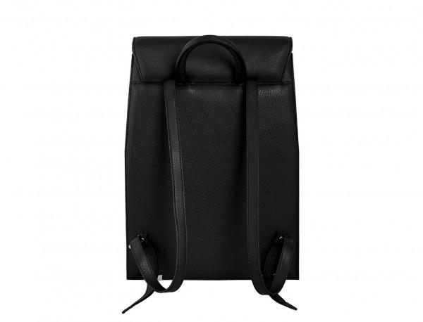 leather backpack black back
