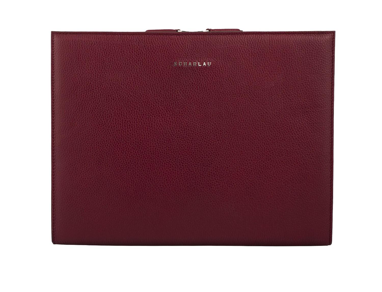 portfolio leather berry front