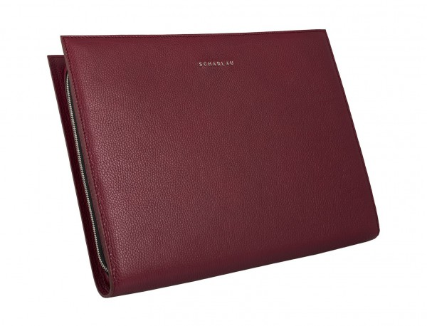 portfolio leather berry side