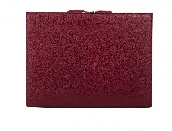 portfolio leather berry back