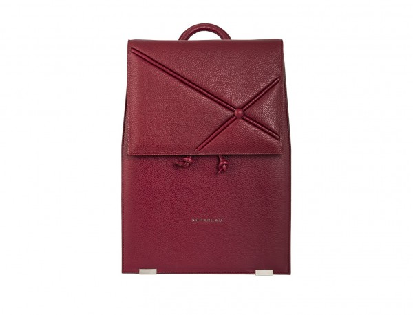 leather backpack berry front