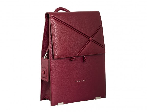 leather backpack berry side