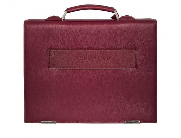 leather briefbag burgundy back